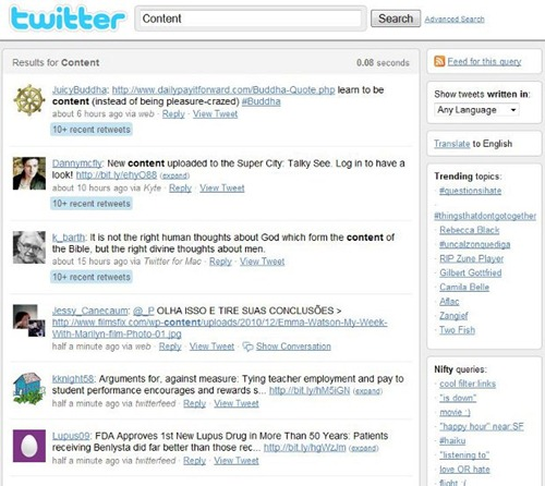 #14 Twitter Search for Content - search